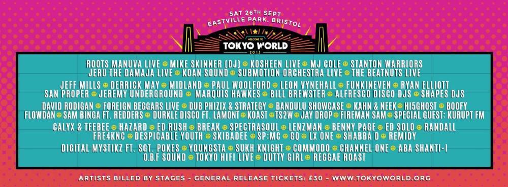 Tokyo World line up