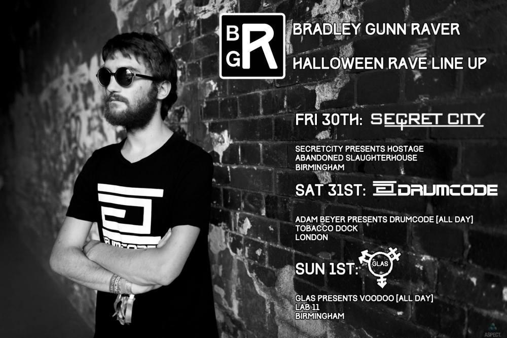 Bradley Gunn Raver Halloween Rave Line Up